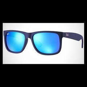 New Ray-Ban Justin Blue Mirror rb4165 Sunglasses